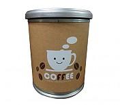 다용도보관통 COFFEE 인쇄형(((중소/나무뚜껑)))Φ350 x 410h