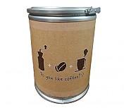 다용도보관통 Do you like coffee 인쇄형(((소/강판뚜껑)))Φ350 x 300h